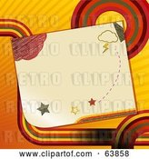 Vector Clip Art of Retro Piece of Paper with Doodles by Elaineitalia
