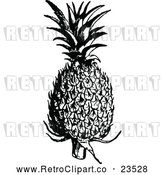 Vector Clip Art of Retro Pineapple by Prawny Vintage