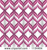 Vector Clip Art of Retro Pink and White Tubular Pattern by Elaineitalia