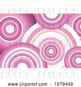 Vector Clip Art of Retro Pink Circle Background by KJ Pargeter