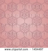August 14th, 2018: Vector Clip Art of Retro Pink Floral Pattern Background by KJ Pargeter