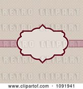 Vector Clip Art of Retro Pink Frame over Polka Dots by KJ Pargeter