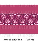 Vector Clip Art of Retro Pink Heart Border over Pink by Elaineitalia
