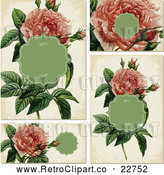 May 4th, 2018: Vector Clip Art of Retro Pink Rose Invitation Designs by BestVector