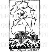 Vector Clip Art of Retro Pirate Ship 2 by Prawny Vintage