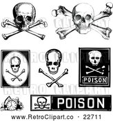 Vector Clip Art of Retro Poison and Skull Designs by BestVector