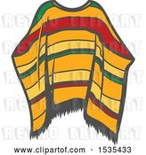 Vector Clip Art of Retro Poncho, in Style by Vector Tradition SM