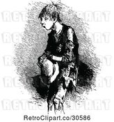 Vector Clip Art of Retro Poor Boy by Prawny Vintage