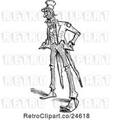 Vector Clip Art of Retro Poor Uncle Sam by Prawny Vintage