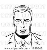 Vector Clip Art of Retro Pop Art Business Man Smiling by Brushingup