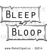 Vector Clip Art of Retro Pop Art Comic Styled Bleep Bloop Sound Effect by AtStockIllustration