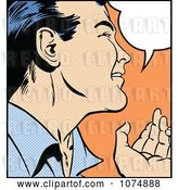 Vector Clip Art of Retro Pop Art Guy Talking by Brushingup