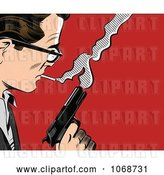 Vector Clip Art of Retro Pop Art Guy with a Gun by Brushingup