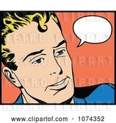 Vector Clip Art of Retro Pop Art Guy with a Speech Balloon 2 by Brushingup