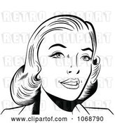 Vector Clip Art of Retro Pop Art Lady in by Brushingup