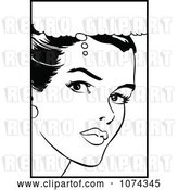 Vector Clip Art of Retro Pop Art Lady in Thought by Brushingup