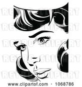 Vector Clip Art of Retro Pop Art Talking Lady in 1 by Brushingup
