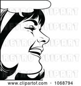 Vector Clip Art of Retro Pop Art Talking Lady in 2 by Brushingup