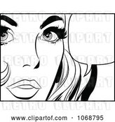 Vector Clip Art of Retro Pop Art Talking Lady in 3 by Brushingup