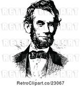 Vector Clip Art of Retro Portrait of Abe Lincoln by Prawny Vintage