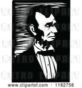 Vector Clip Art of Retro Portrait of Abraham Lincoln by Prawny