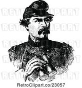 Vector Clip Art of Retro Portrait of General George McClellan by Prawny Vintage