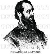 Vector Clip Art of Retro Portrait of General Stonewall Jackson by Prawny Vintage
