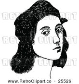 Vector Clip Art of Retro Portrait of Raphael by Prawny Vintage