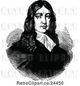 Vector Clip Art of Retro Portrait of the English Poet John Milton by Prawny Vintage