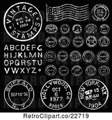 Vector Clip Art of Retro Postmark Stamps and Letters 2 by BestVector