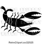 Vector Clip Art of Retro Prawn by BestVector