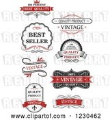 Vector Clip Art of Retro Premium Quality Guarantee Labels 2 by Vector Tradition SM