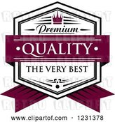 Vector Clip Art of Retro Premium Quality the Very Best Shield by Vector Tradition SM