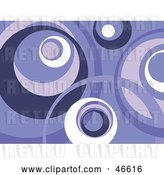 Vector Clip Art of Retro Purple and White Circle Background by KJ Pargeter