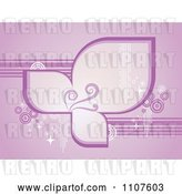 Vector Clip Art of Retro Purple Background of Petals Lines Circles Sparkles and Swirls by Amanda Kate