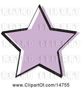 Vector Clip Art of Retro Purple Star Shape by Andy Nortnik