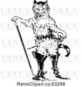 Vector Clip Art of Retro Puss in Boots Cat by Prawny Vintage