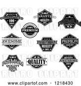 Vector Clip Art of Retro Quality Labels with Sample Text by Vector Tradition SM