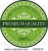Vector Clip Art of Retro Quality Organic Label by Vector Tradition SM
