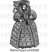 Vector Clip Art of Retro Queen Elizabeth the First by Prawny Vintage