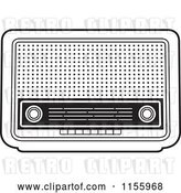 Vector Clip Art of Retro Radio by Lal Perera