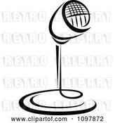 Vector Clip Art of Retro Radio Desk Microphone 1 by Vector Tradition SM