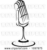 Vector Clip Art of Retro Radio Desk Microphone 2 by Vector Tradition SM