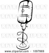 Vector Clip Art of Retro Radio Desk Microphone 4 by Vector Tradition SM