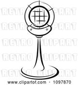 Vector Clip Art of Retro Radio Desk Microphone 5 by Vector Tradition SM