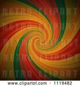 Vector Clip Art of Retro Rainbow Swirl with a Corrugated Cardboard Texture by Elaineitalia