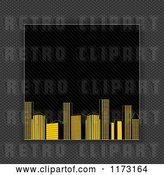 Vector Clip Art of Retro Raised City Bordered with Carbon Fiber by Elaineitalia