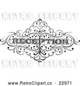 Vector Clip Art of Retro Reception Text by Prawny Vintage