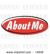 Vector Clip Art of Retro Red About Me Internet Website Button by Andy Nortnik