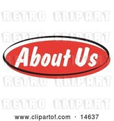 Vector Clip Art of Retro Red About Us Internet Website Button by Andy Nortnik